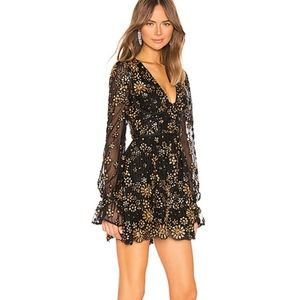 X by NBD Journey Embellished Sequin Ruffle Dress